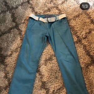 Red Camel Pants with Belt